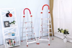 Two ladders in renovated room
